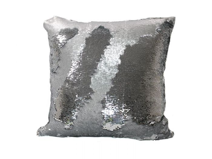 Platinum Mermaid Throw Pillow Silver Square Ms 18 Cover