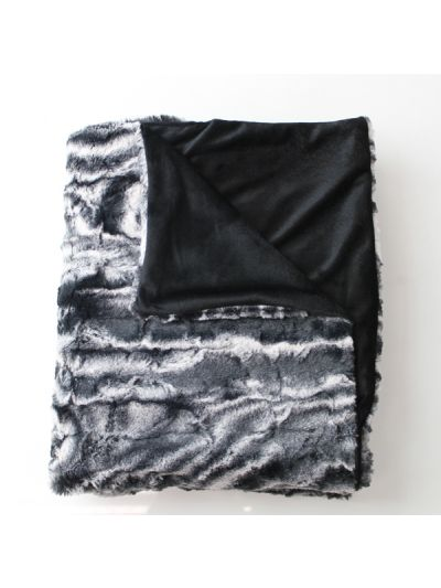 Lamour Faux Fur Blanket Gray Rectangle - FF-LAMOUR-60