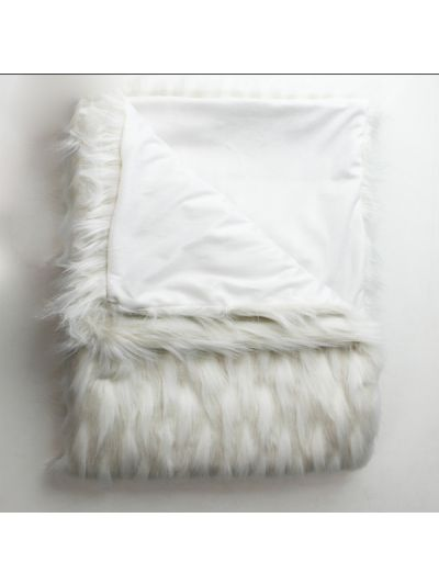 O'Hara Faux Fur Throw Blanket White Rectangle - 60''x50''