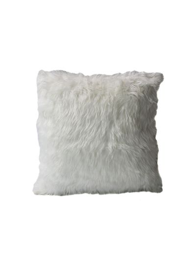 Holliday Faux Fur Throw Pillow White Square - FF-HOLLIDAY-18 Pillow Cover
