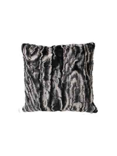 Lamour Faux Fur Throw Pillow Black Square - FF-LAMOUR-18 Pillow Cover