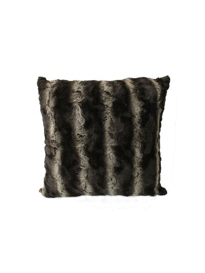 Stanwyck Faux Fur Throw Pillow White Square - FF-STANWYCK-18 Pillow Cover With Filler