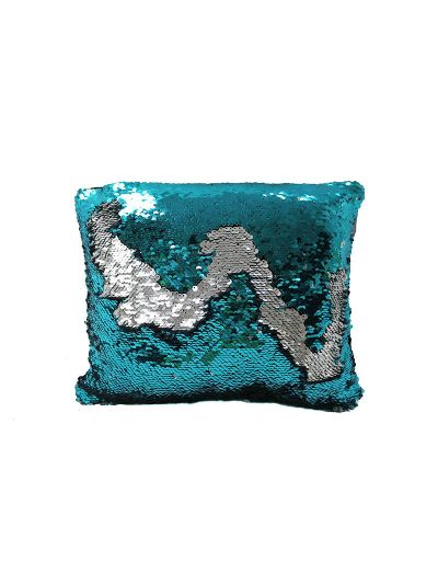 Aquamarine Mermaid Throw Pillow Blue Rectangle - MS-AQUAMARINE-10 Pillow Cover