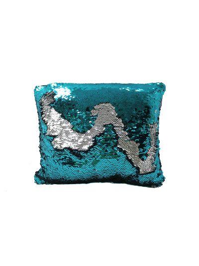 Aquamarine Mermaid Throw Pillow Blue Rectangle - MS-AQUAMARINE-10 Pillow Cover