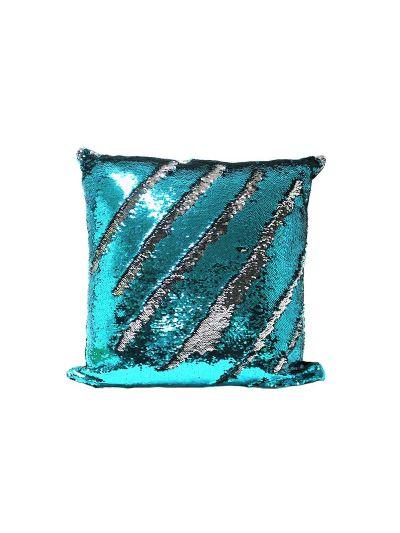 Aquamarine Mermaid Throw Pillow Blue Square - MS-AQUAMARINE-20 Pillow Cover With Filler