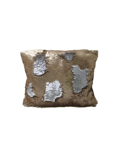 Bronze Mermaid Throw Pillow Bronze Rectangle - MS-BRONZE-10 Pillow Cover