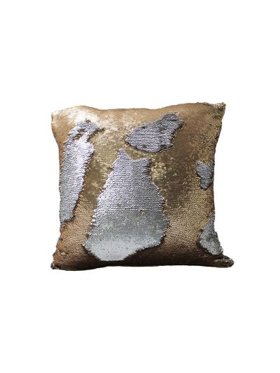 Bronze Mermaid Throw Pillow Bronze Square - MS-BRONZE-20 Pillow Cover With Filler
