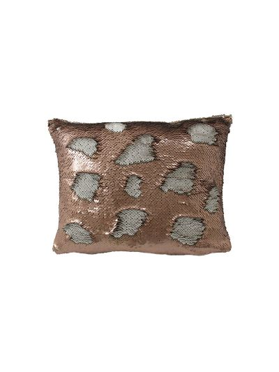 Copper Mermaid Throw Pillow Copper Rectangle - MS-COPPER-10 Pillow Cover With Filler