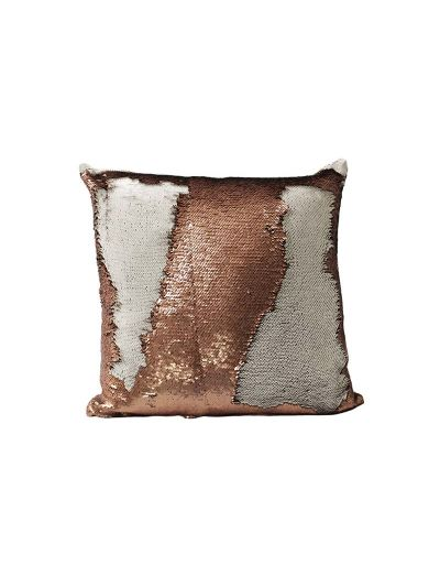 Copper Mermaid Throw Pillow Copper Square - MS-COPPER-18 Pillow Cover With Filler