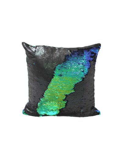 Dragon Mermaid Throw Pillow Green Square - MS-DRAGON-18 Pillow Cover With Filler
