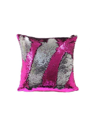 Flamingo Mermaid Throw Pillow Pink Square - MS-FLAMINGO-18 Pillow Cover With Filler
