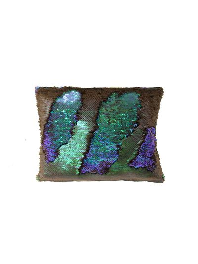 Mystic Mermaid Throw Pillow Purple Rectangle - MS-MYSTIC-10 Pillow Cover With Filler