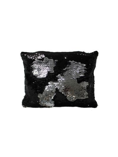 Onyx Mermaid Throw Pillow Black Rectangle - MS-ONYX-10 Pillow Cover With Filler
