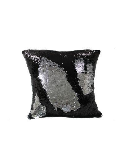 Onyx Mermaid Throw Pillow Black Square - MS-ONYX-18 Pillow Cover