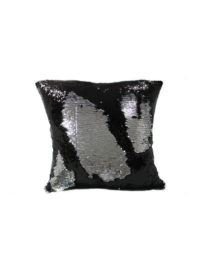 Onyx Mermaid Throw Pillow Black Square - MS-ONYX-20  Pillow Cover With Filler