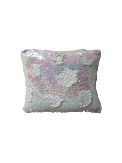 Pink Opal Mermaid Throw Pillow Pink Rectangle - MS-PINK-OPAL-10 Pillow Cover With Filler