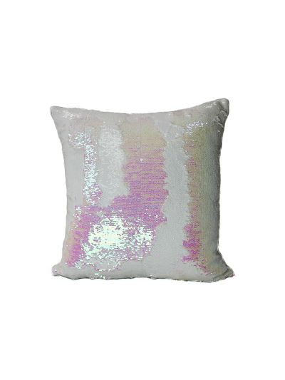 Pink Opal Mermaid Throw Pillow Pink Square - MS-PINK-OPAL-18 Pillow Cover With Filler