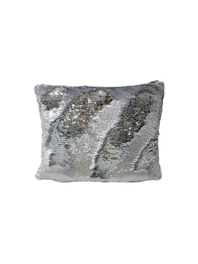 Platinum Mermaid Throw Pillow Silver Rectangle - MS-PLATINUM-10 Pillow Cover