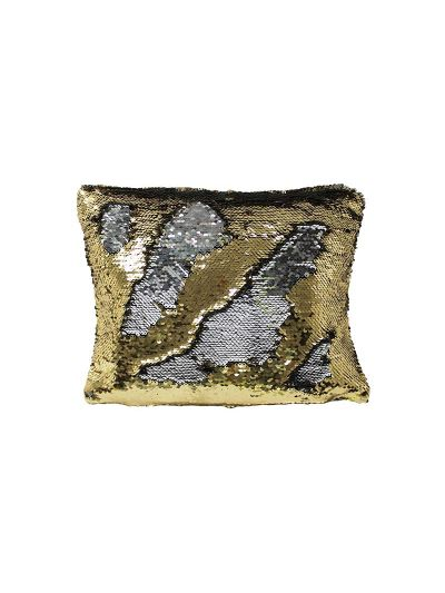 Treasure Mermaid Throw Pillow Gold Rectangle - MS-TREASURE-10 Pillow Cover With Filler