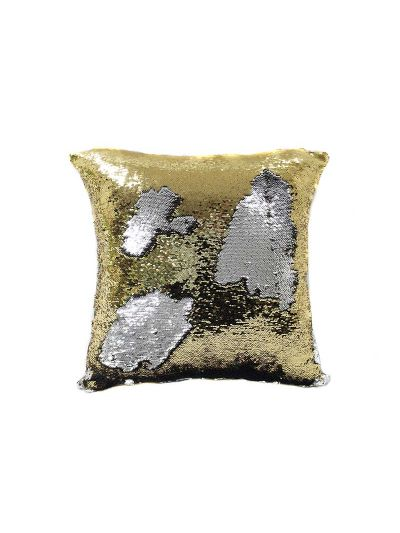 Treasure Mermaid Throw Pillow Gold Square - MS-TREASURE-20 Pillow Cover With Filler